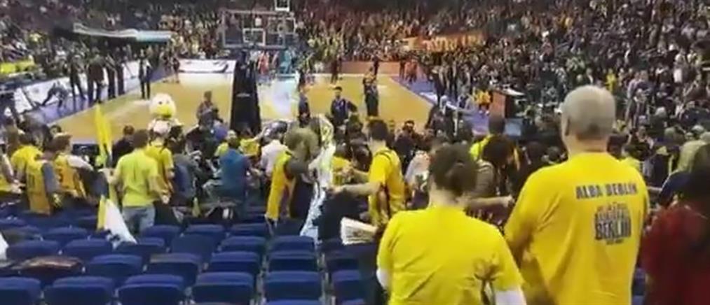 Άγριο ξύλο μεταξύ Γερμανών και Τούρκων σε αγώνα της Euroleague (βίντεο)