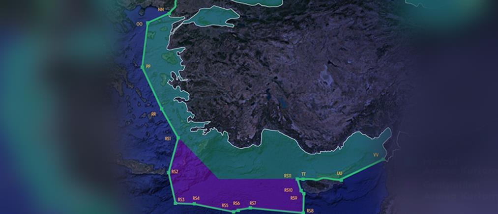 Η Τουρκία διεκδικεί το μισό Αιγαίο με χάρτη - σκληρή απάντηση από την Αθήνα