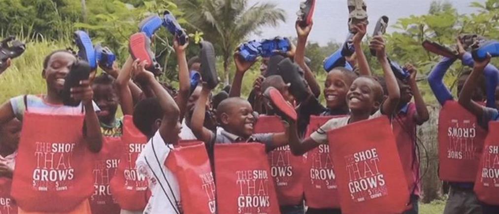 """""""Παπούτσι που μεγαλώνει"""" για τα φτωχά παιδάκια – Πώς """"γεννήθηκε"""" η ιδέα (βίντεο)"""