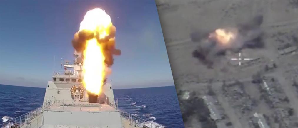 Ρωσία: από τη Μεσόγειο εκτόξευσε πυραύλους στην Παλμύρα (βίντεο)