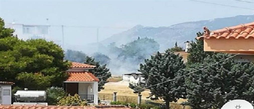 Μεγάλη φωτιά στο Λουτράκι