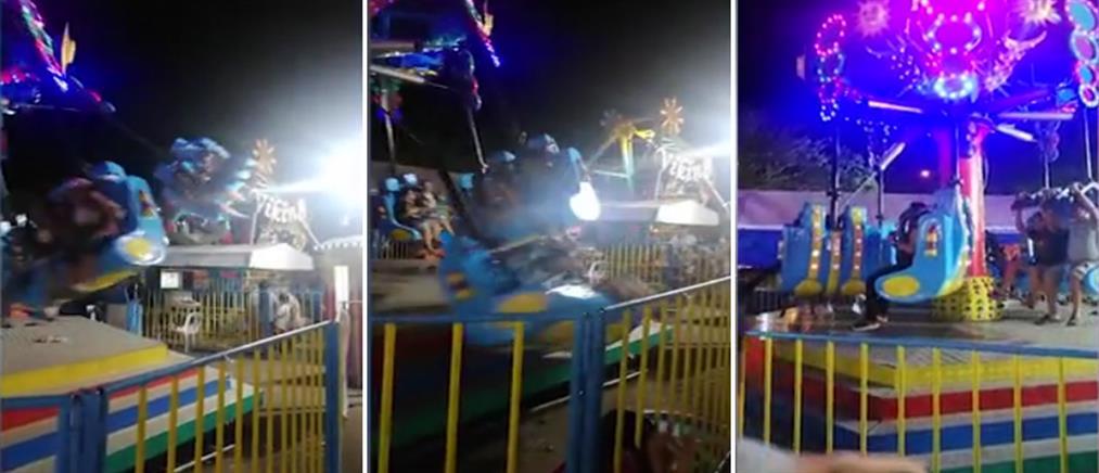 Βίντεο σοκ: πετάχτηκαν στο έδαφος από παιχνίδι του λούνα παρκ