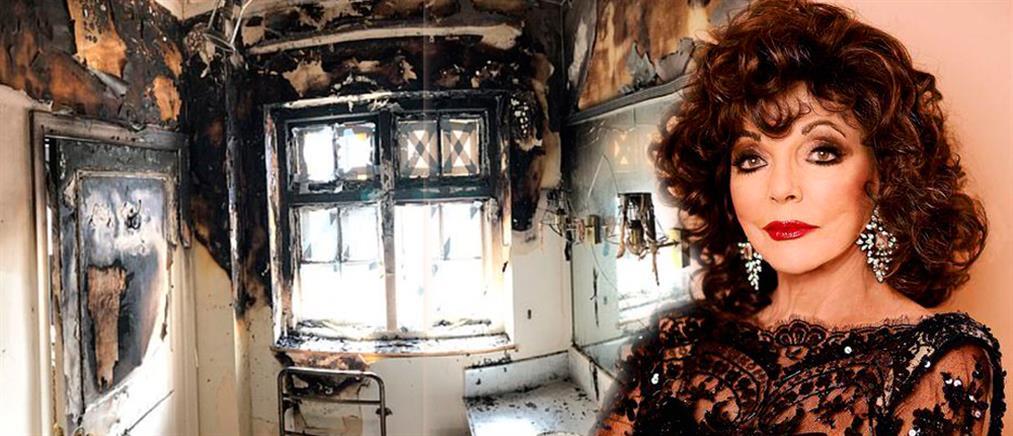 Στις φλόγες το σπίτι της Τζόανς Κόλινς – Πώς σώθηκε από θαύμα (εικόνες)