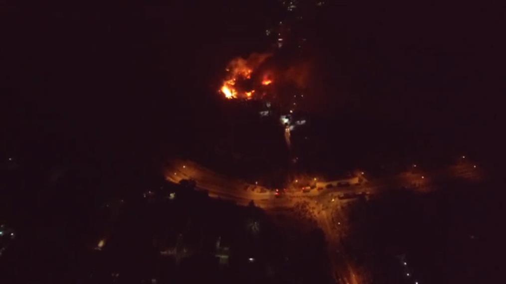 Βίντεο από drone με την πυρκαγιά στη Σάμο