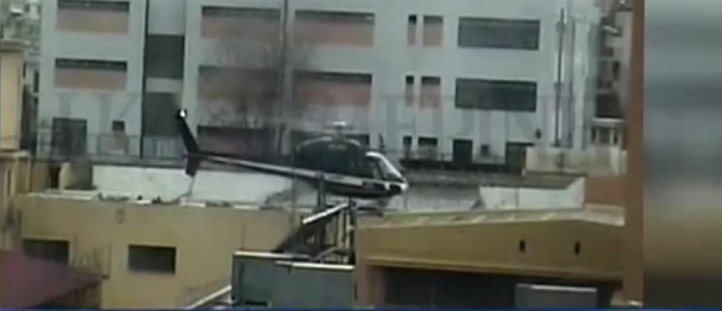 Βίντεο-ντοκουμέντο: η απόδραση του Παλαιοκώστα με ελικόπτερο από τις Φυλακές Κορυδαλλού (βίντεο)