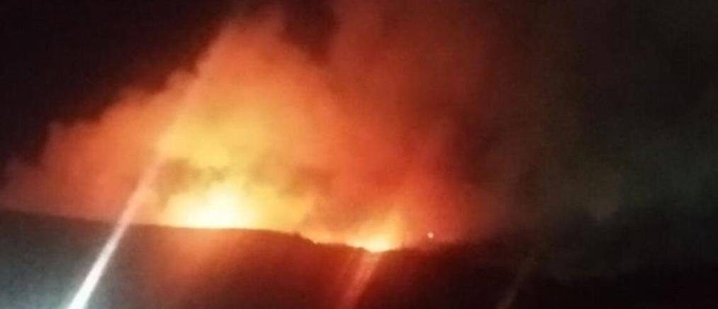 Φωτιά στον ΧΥΤΑ Φυλής: Αποπνικτική ατμόσφαιρα και τοξικό νέφος