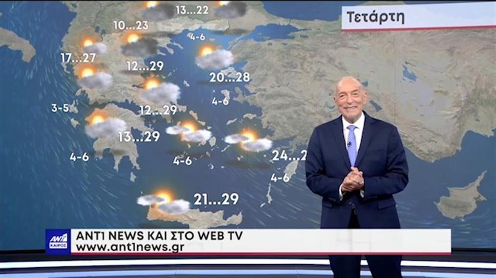 Δελτίο καιρού στις 20:00 – 20-09-2021