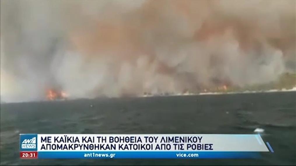 Φωτιές: εθελοντές - διασώστες δίνουν «μάχη» με τις φλόγες