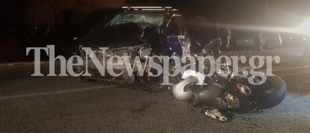 Νεκρός νεαρός μοτοσικλετιστής σε μετωπική σύγκρουση (εικόνες)