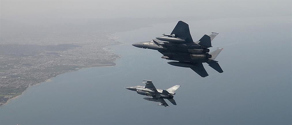 """""""Αερομαχία"""" με οπλισμένα μαχητικά πάνω από το Αιγαίο"""