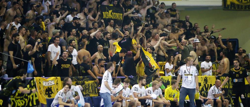 Χάντμπολ - ΑΕΚ: Εισαγγελική έρευνα για τον κόσμο στον τελικό (εικόνες)