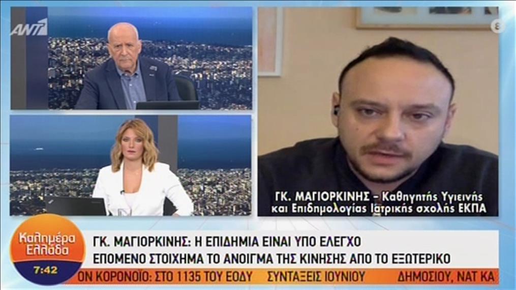 """Ο Γκίκας Μαγιορκίνης στν εκπομπή """"Καλημέρα Ελλάδα"""""""