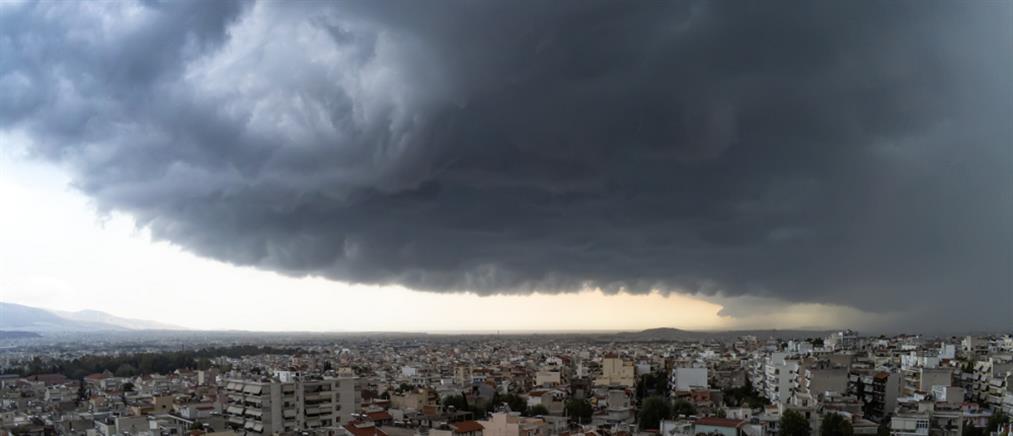Shelf cloud: το φαινόμενο που εντυπωσίασε την Αττική (εικόνες)