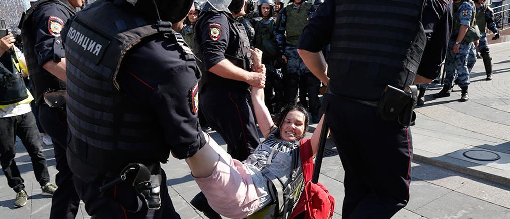 Εκατοντάδες συλλήψεις σε αντικυβερνητική διαδήλωση στη Μόσχα (εικόνες)