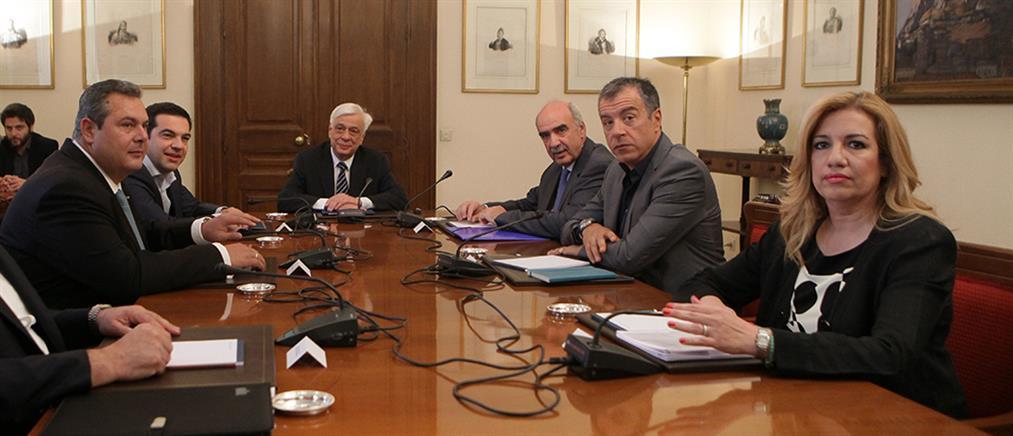 «Άτυπο» Συμβούλιο Πολιτικών Αρχηγών στο Προεδρικό Μέγαρο
