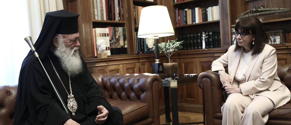 Σακελλαροπούλου σε Ιερώνυμο: Με υπευθυνότητα συμβάλατε στην αντιμετώπιση της πανδημίας