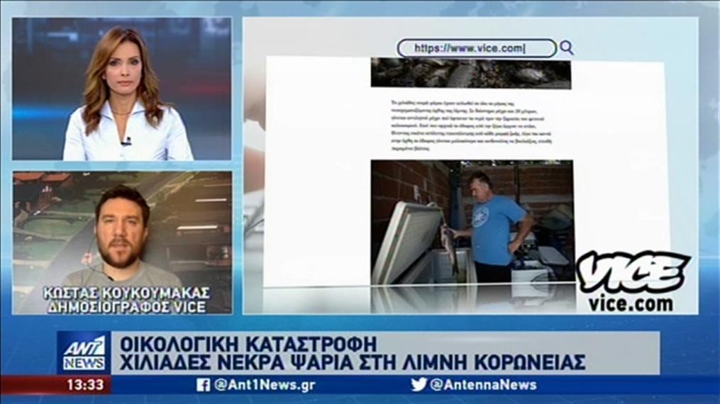 To Vice Greece για τα νεκρά ψάρια στην Κορώνεια