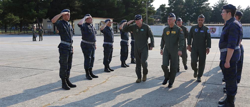 Επίσκεψη του Διοικητή της USEUCOM στην 110 Πτέρυγα Μάχης (εικόνες)