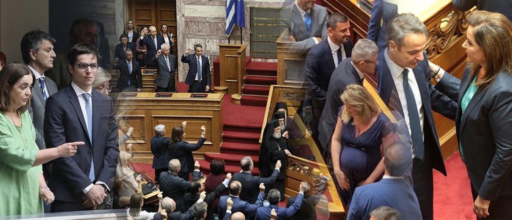 Καρέ-καρέ η ορκωμοσία των 300 μελών της νέας Βουλής (φωτορεπορτάζ)