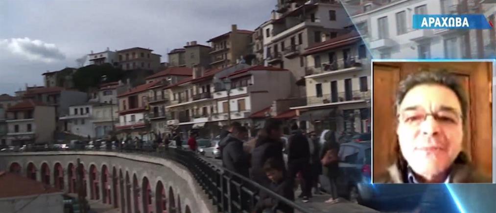 """""""Πάγωσαν"""" τα ορεινά τουριστικά θέρετρα (βίντεο)"""