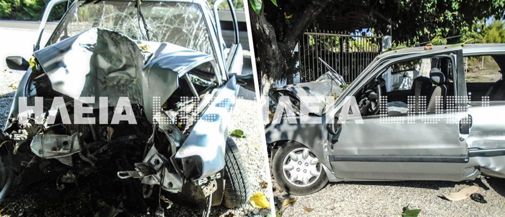 Μάχη για τη ζωή της δίνει 21χρονη οδηγός μετά από τροχαίο (εικόνες)