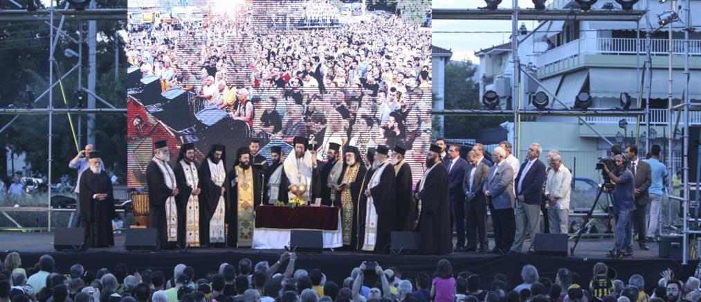 ΑΕΚ: Αγιασμός στη Νέα Φιλαδέλφεια παρουσία χιλιάδων οπαδών (φωτο)