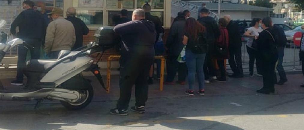 """Θεσσαλονίκη: ουρές και μεγάλη ταλαιπωρία στο """"Θεαγένειο"""" (εικόνες)"""