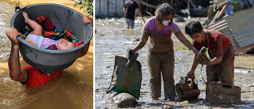 """Φιλιππίνες: δεκάδες νεκροί από τον τυφώνα """"Βάμκο"""" (εικόνες)"""