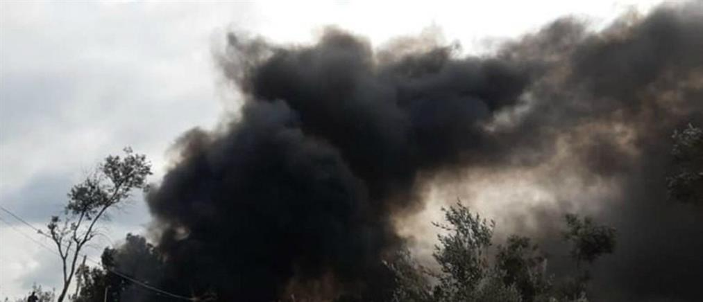 Φωτιά στο Κέντρο Υποδοχής και Ταυτοποίησης στη Μόρια
