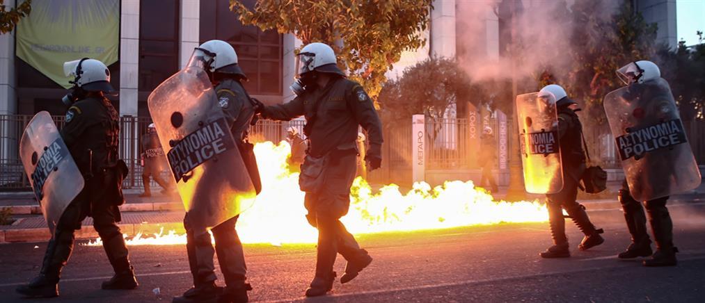 Επεισόδια, μολότοφ και συλλήψεις στο κέντρο της Αθήνας (εικόνες)