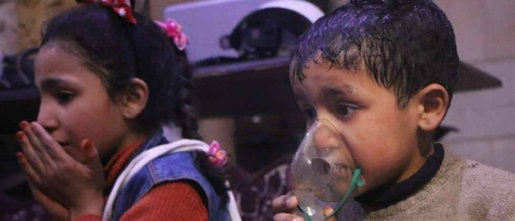 Επίθεση με χημικά στην ανατολική Γούτα (βίντεο)