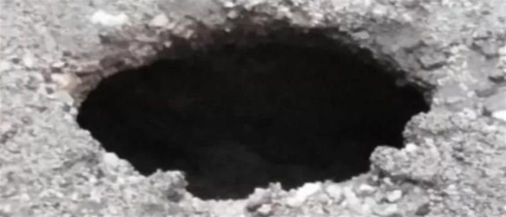 Πάτρα: άνοιξε κρατήρας στη μέση του δρόμου!