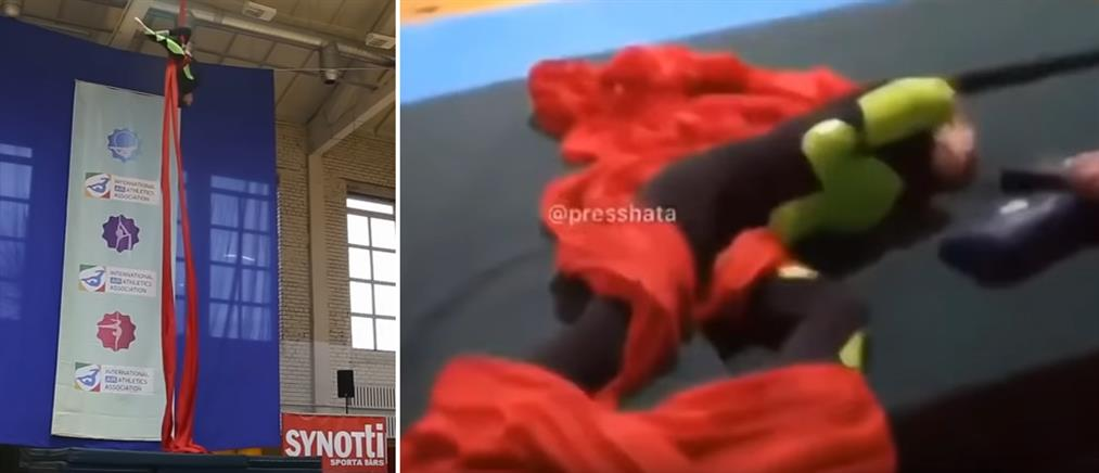 Γυναίκα ακροβάτης πέφτει από τα 7,5 μέτρα (βίντεο)