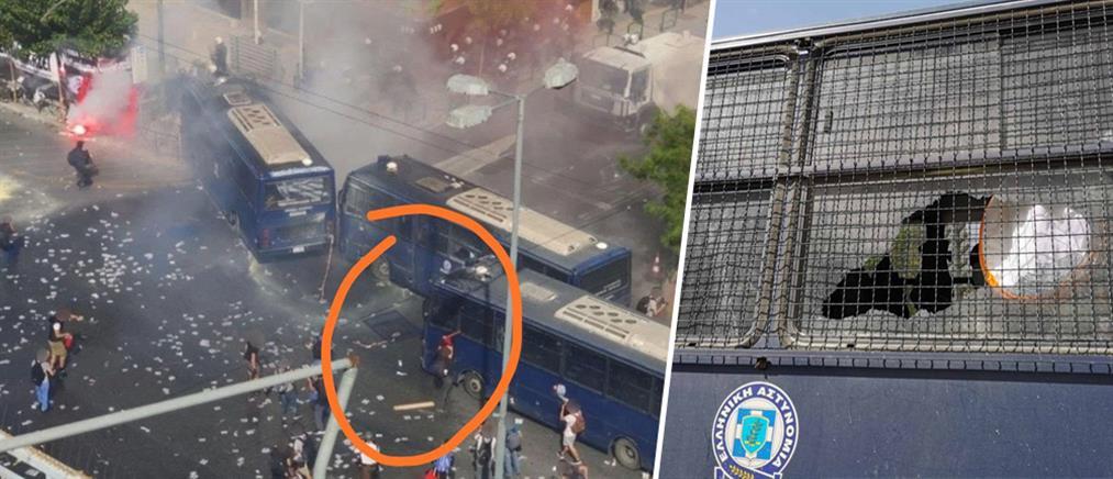 ΕΛ.ΑΣ. για επεισόδια: Πέταξαν πάνω από 150 μολότοφ στους αστυνομικούς (εικόνες)