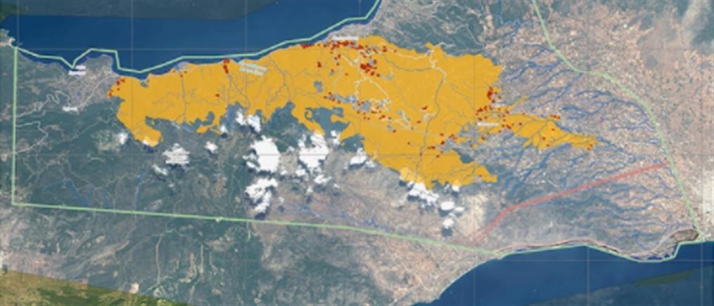 Φωτιά στα Γεράνεια Όρη: Στάχτη χιλιάδες στρέμματα - Drone αποτυπώνει την τεράστια καταστροφή (βίντεο)