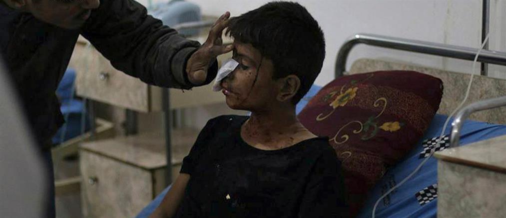 Βομβαρδισμός σχολείου στη Συρία (βίντεο)
