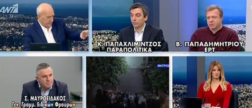 """Μαυροειδάκος στον ΑΝΤ1: δεν έχουμε """"βεντέτα"""" με τους αντιεξουσιαστές"""
