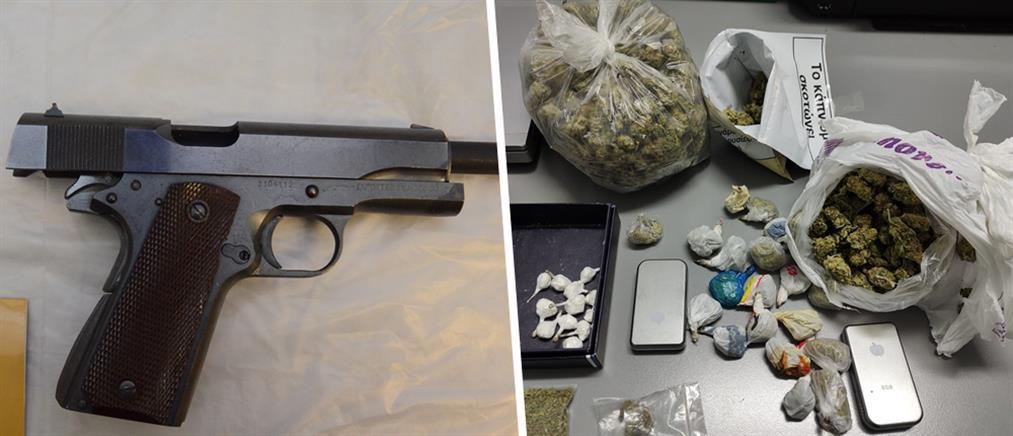 Συλλήψεις για ναρκωτικά, όπλα και δεκάδες κλοπές (εικόνες)