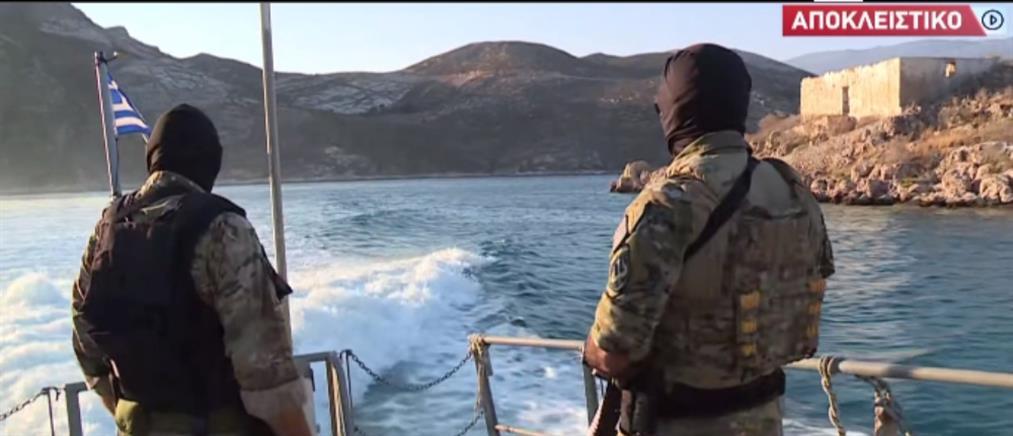 Ο ΑΝΤ1 στο Καστελλόριζο: περιπολία με τους κομάντο του Λιμενικού (βίντεο)