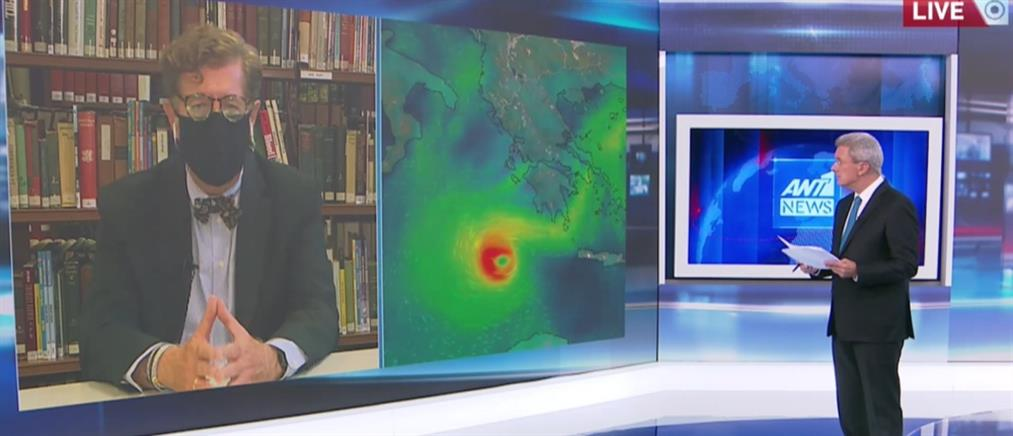 """""""Ιανός"""" - Συνολάκης στον ΑΝΤ1: να μείνουν εκτός σπιτιού όσοι μένουν σε υπόγεια και ισόγεια (βίντεο)"""