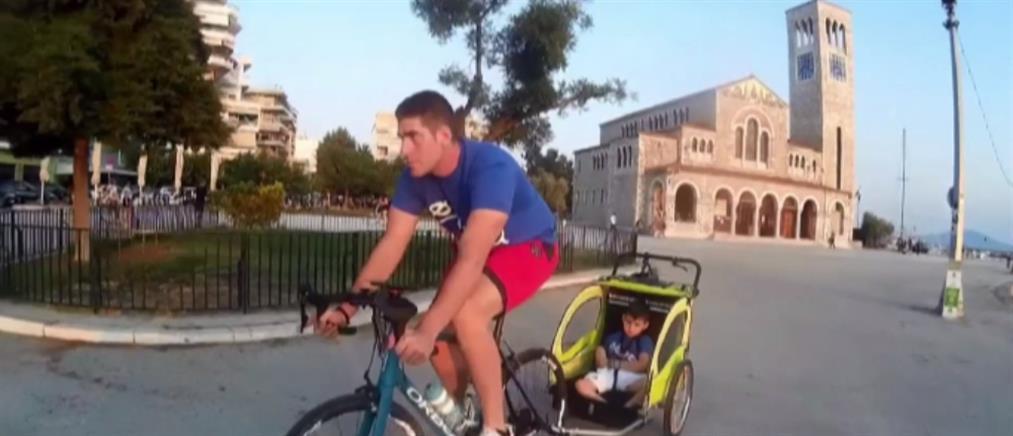 Άγγελος Κριτσιώτης: Το μεγαλείο ψυχής και η ποδηλατάδα 130 χλμ με τον μικρό Γιώργο (βίντεο)
