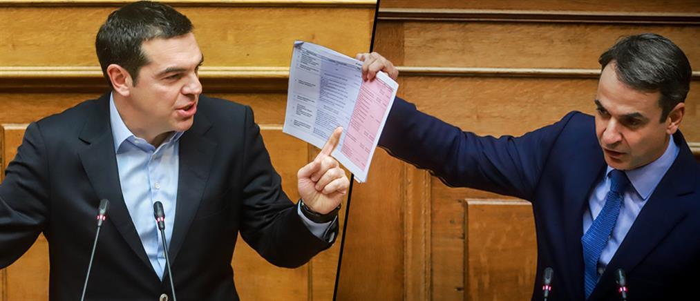 """""""Μετωπική σύγκρουση"""" Τσίπρα-Μητσοτάκη στη Βουλή"""
