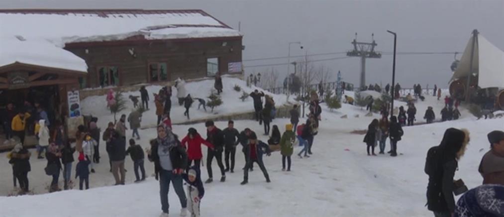 Ιράκ: παιχνίδια στα χιόνια για μικρούς και μεγάλους (εικόνες)