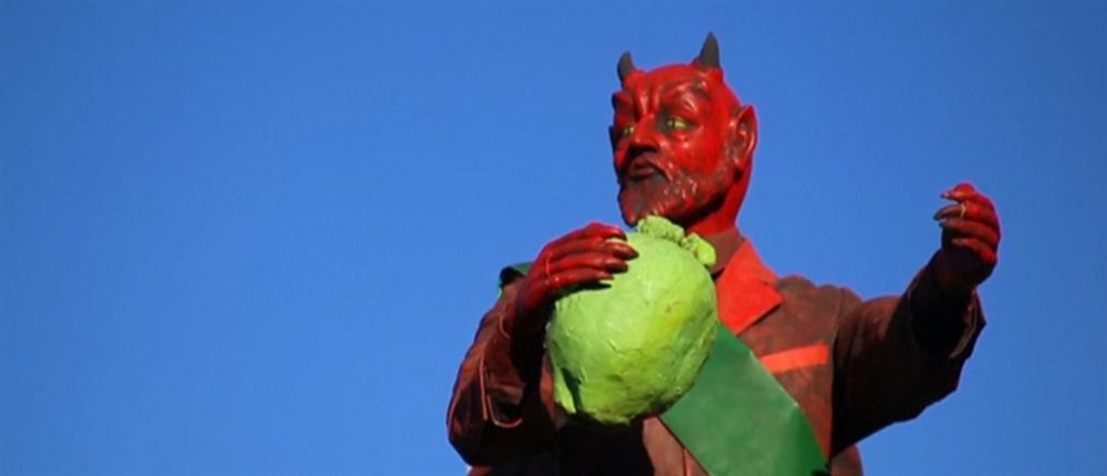 """Έκαψαν τον """"Διάβολο"""" ενόψει των Χριστουγέννων (βίντεο)"""