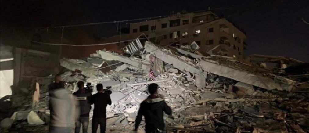 Το Ισραήλ βομβάρδισε το κτήριο του Anadolu στην Γάζα (εικόνες)
