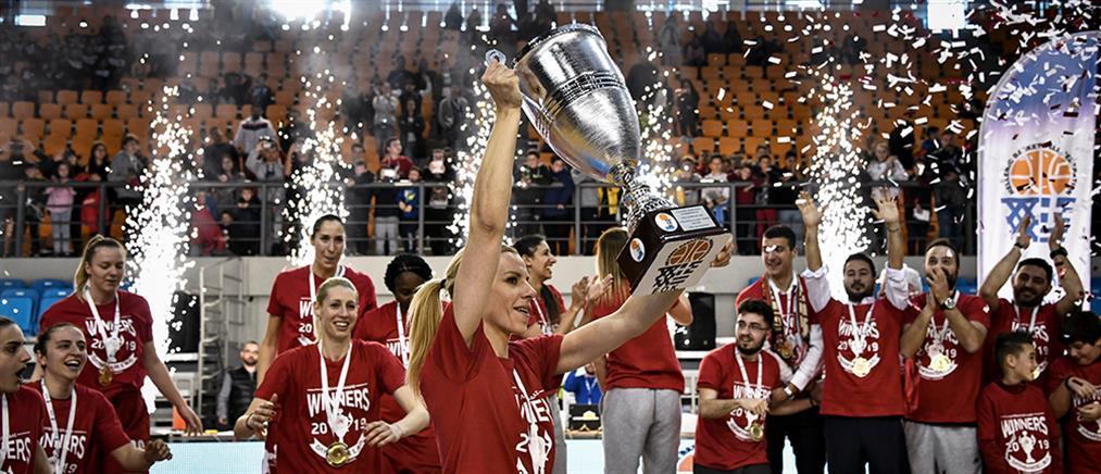 Κυπελλούχος στο γυναικείο μπάσκετ ο Ολυμπιακός