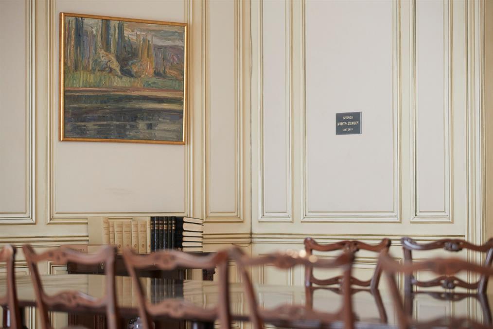 """Αίθουσα """"Δημήτρης Στεφάνου"""" ονομάστηκε η αίθουσα συνεδρίασης του Υπουργικού Συμβουλίου"""