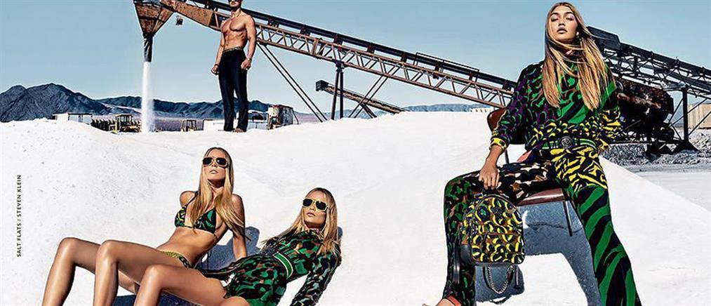 Η Τζίτζι Χαντίντ στη νέα καμπάνια του Versace