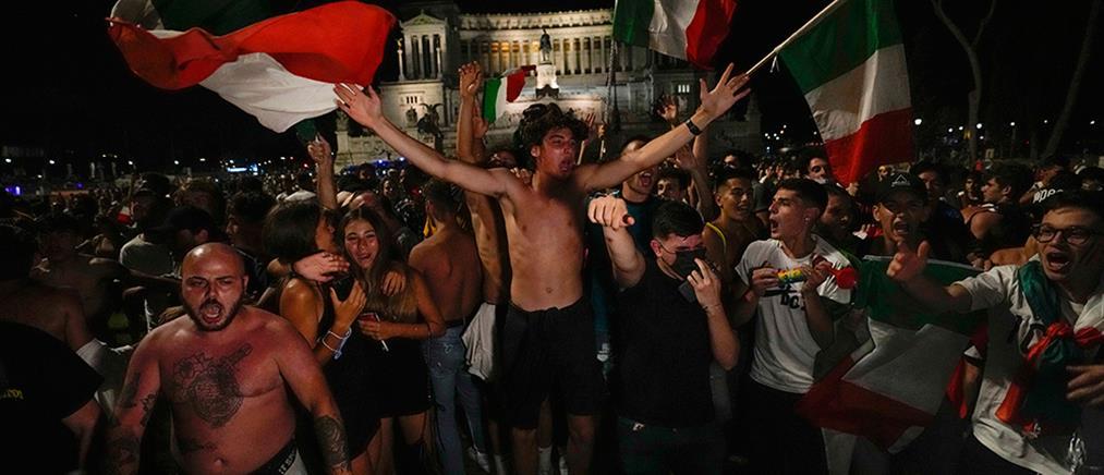 Euro 2020 – Ιταλία: έξαλλοι πανηγυρισμοί για την πρόκριση (εικόνες)