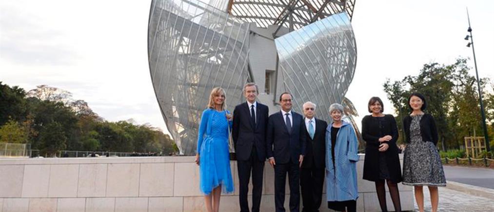 Ο Φρανσουά Ολάντ εγκαινίασε το Ίδρυμα Louis Vuitton